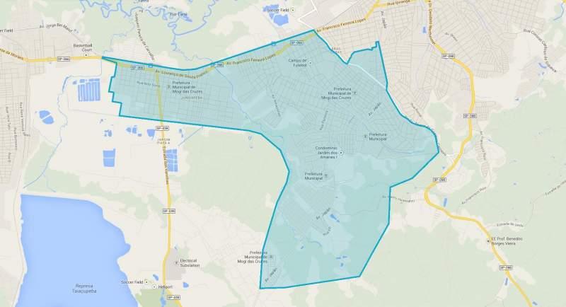 Mapa região